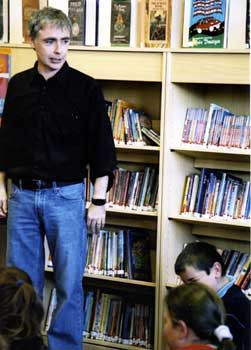 Eoin Colfer in Wexford Library Drama Clas